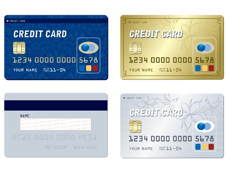 plastic card: credit cards