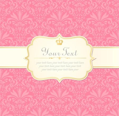 pink border: invitation vintage label frame pink pastel