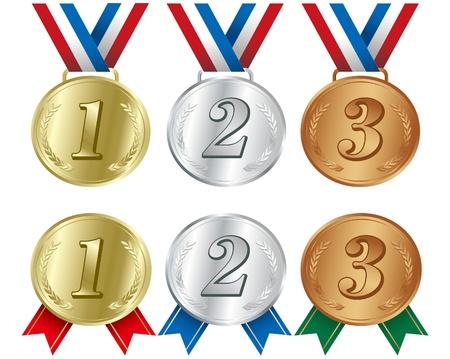 gold medal: illustration - Awards icon set vector