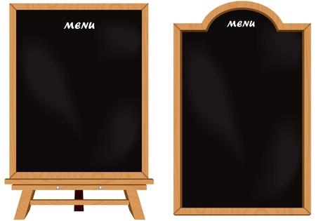Black board set isolated vector Vector