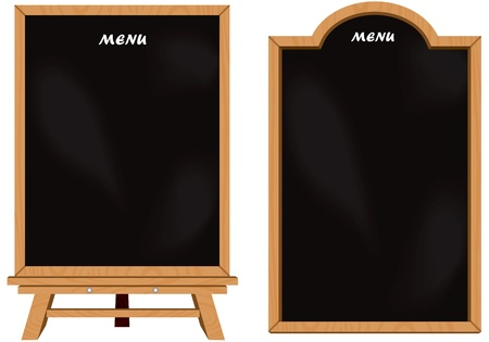 Black board set isolated vector
