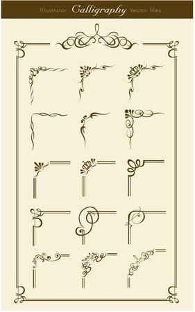 esquineros de flores: Elementos de la colecci�n de dise�o Vectores