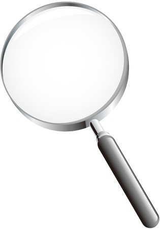 a round of inspection: Magnifying glass Illustration