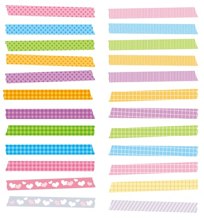 messed: cute masking tape set vector