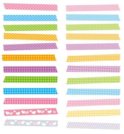 cintas: la cinta adhesiva lindo conjunto de vectores