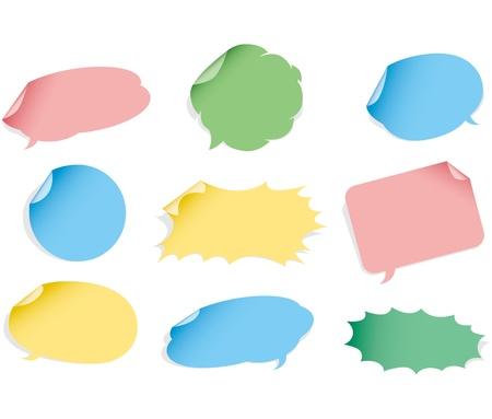 Vector speech bubble. Sticker set.