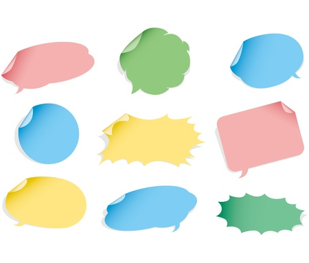 text room: Vector speech bubble. Sticker set.