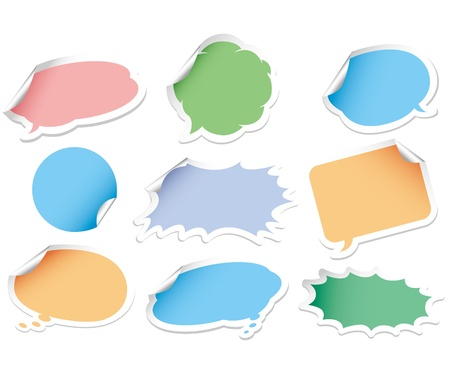 Vector speech bubble. Sticker set. Vector