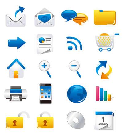 ms: Universal website icon set vector