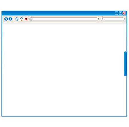 navegador de Internet Ilustración de vector