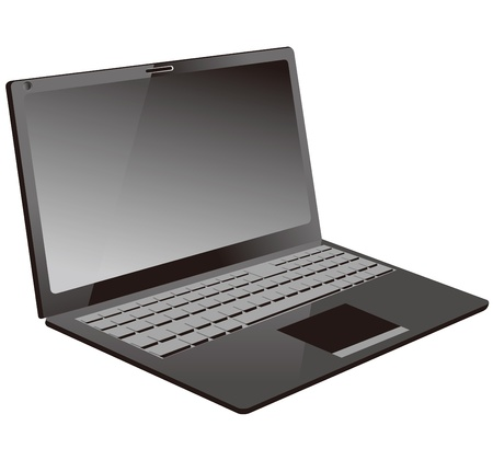 Laptop PC isolated Vector
