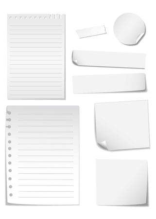 memo stick isolated on white Stock Vector - 12947743