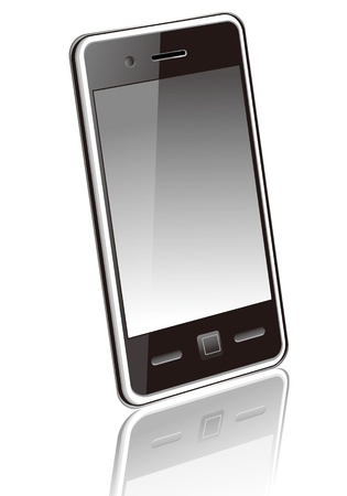 dialing: Touchscreen smartphone vector Illustration
