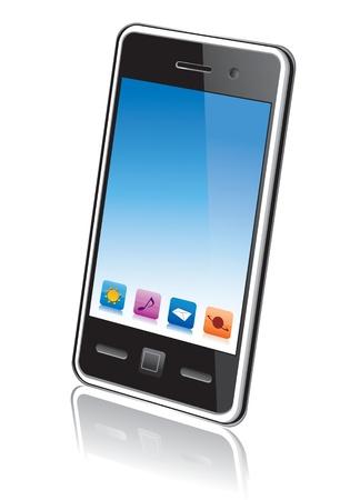 Touchscreen smartphone vector Stock Vector - 12955938