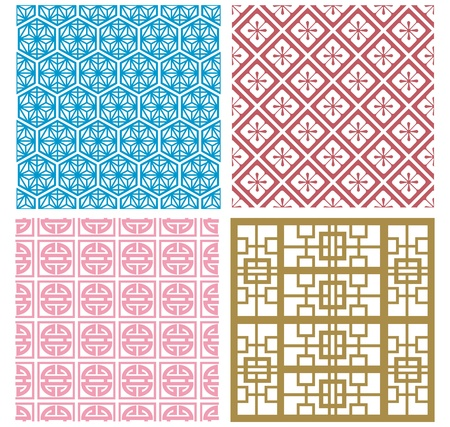 Chinese decorative frame collection Vector