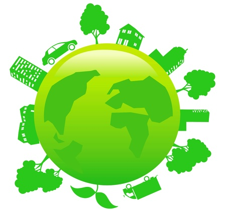 earth - sustainable development concept Vector