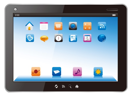 digital tablet computer vector Illustration