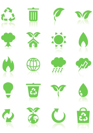 reminder icon: ecology icon drawings on blackboard vector