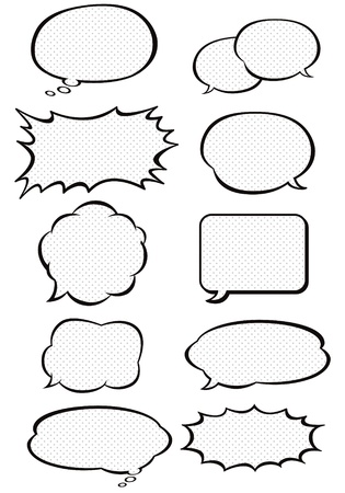 A collection of comic style speech bubbles. Vector illustration. Vector