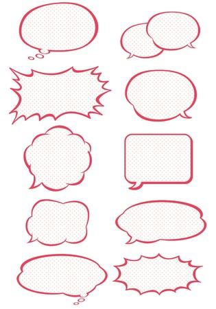 スピーチの泡コレクション  イラスト・ベクター素材