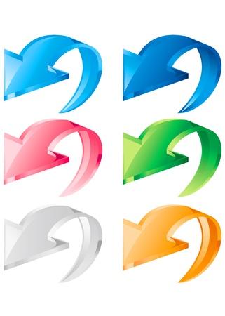 Arrow icon set. Vector Stock Vector - 13076265