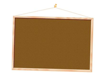 Cork board isolated over white background Vector