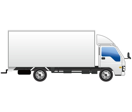 trucking: truck icon vector