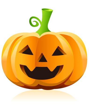large pumpkin: halloween pumpkin vector