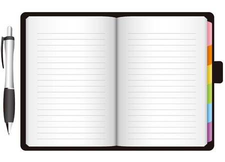 note books: open personal organizer Vector