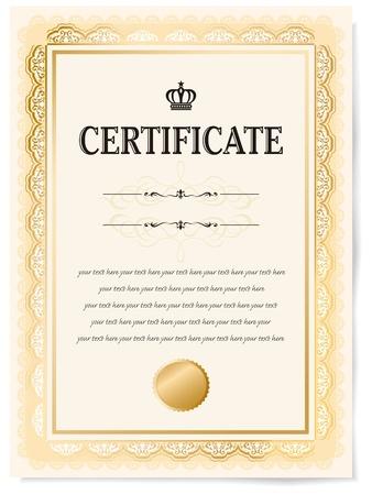 realizować: Ilustracja z certyfikatem Award of Excellence ze złotą wstążką