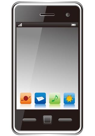 Touchscreen smartphone vector Stock Vector - 13115567