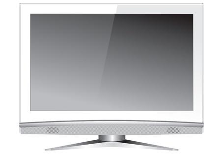 現代ワイド スクリーン ディスプレイ モニター ベクトル