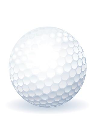 Golf ball. Vector.