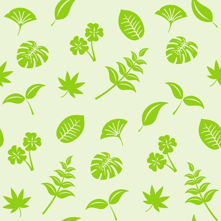 seamless background from leaves Vector