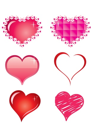 heart icons set Stock Vector - 13425294