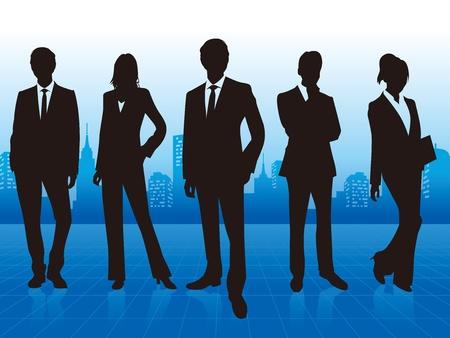 ビジネスの男性のグループ
