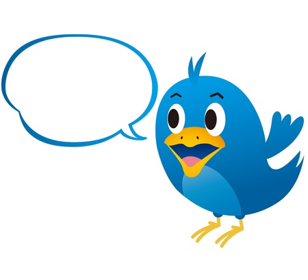 tweet: bird blue Illustration