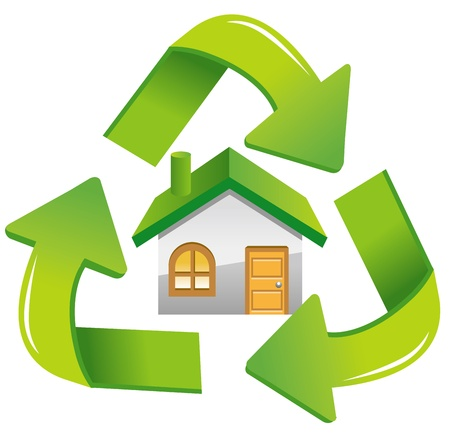 house recycle icon Stock Vector - 13653800