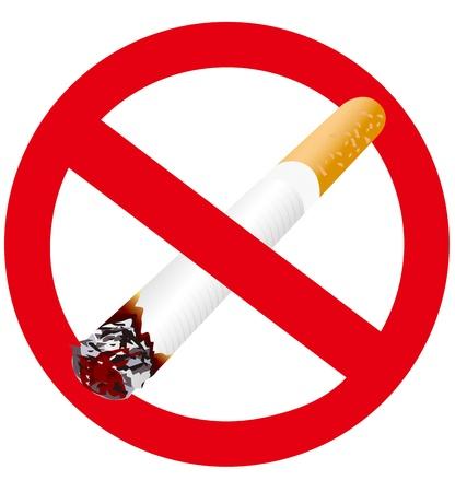no symbol: no smoking Illustration