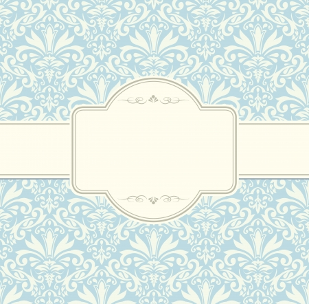 blue vintage label frame Illustration