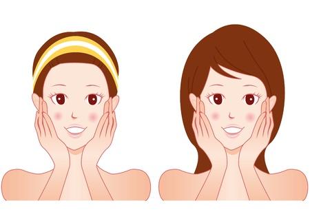 facial beauty Vektorové ilustrace