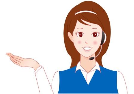 telephone operator: telephone operator Vector Illustration