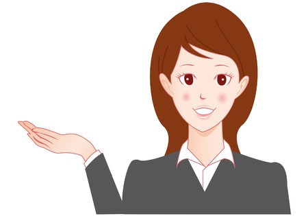 Businesswoman speaking Vector Stock Vector - 13946379