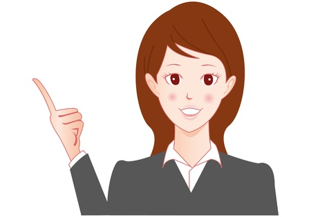 Businesswoman speaking Vector Stock Vector - 13946380
