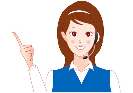 politeness: telephone operator Illustration