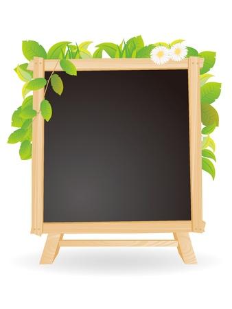 blackboard black chalkboard bulletin board of eco-image Vector