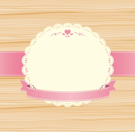lace label Vector