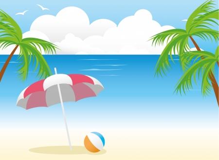 summer beach background Stock Vector - 14170044