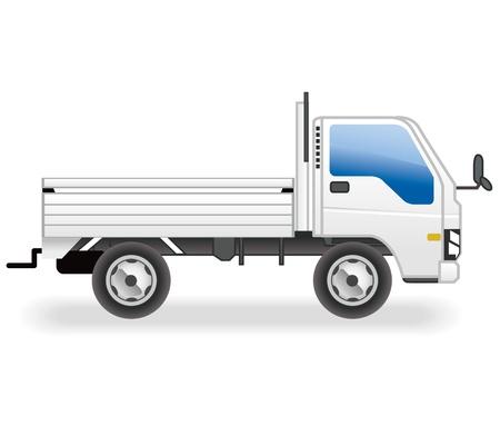 fuel economy: truck vector