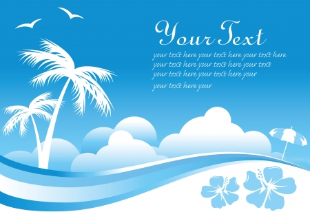 summer sea background Stock Vector - 14346238